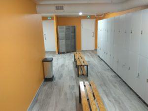 la salle vestiaire